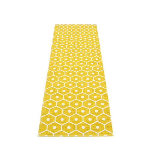 Pappelina HONEY matto  - mustard - Koko: 70x225cm