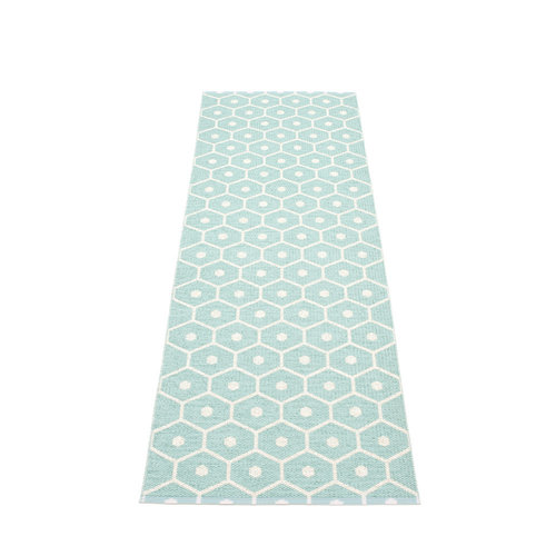Pappelina HONEY matto  - pale turquoise - Koko: 70x225cm