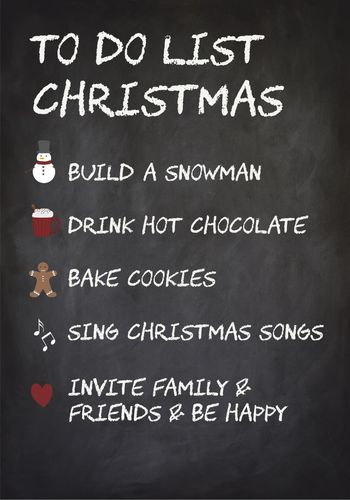 "Metallikyltti ""To Do List Christmas """